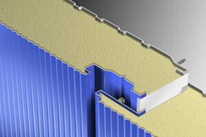 نحوه اتصال ساندویج پانل های دیواری تولید جدار پانل نمایش اتصال مخفی پانل ها