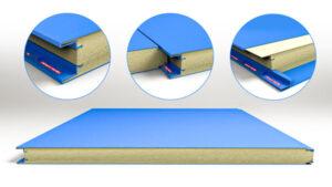 نمایش ساندویچ پانل دیواری از نمایهای مختلف و نحوه اتصال